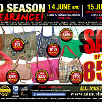 Read more about Nimeshop Branded Handbags Sale Up To 80% Off @ Two Locations 14 - 15 Jun 2014