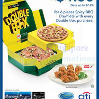 Read more about Pizza Hut Buy Double Box & Enjoy $4.50 6pc Spicy BBQ Drumlets 13 Jun - 29 Jul 2014