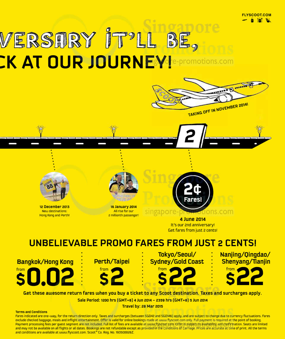 Promo Air Fares From 2 Cents