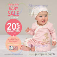 Read more about Pumpkin Patch 20% OFF Baby Items Baby SALE 12 - 25 Jun 2014