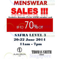 Read more about Branded Menswear Up To 70% OFF SALE @ Safra Toa Payoh 20 - 22 Jun 2014