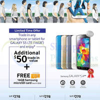 Read more about Samsung Galaxy S5 Additional $50 Trade-in Value Promo 21 - 27 Jun 2014