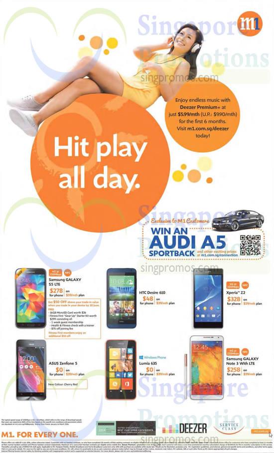 Samsung Galaxy S5, Samsung Galaxy Note 3, Samsung Galaxy Sony Xperia Z2, Nokia Lumia 635, HTC Desire 610, Asus Zenfone 5