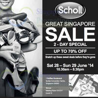 Read more about Scholl Two Day Sale Event @ Suntec Convention Centre 28 - 29 Jun 2014