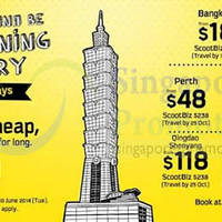 Read more about Scoot Airlines From $18 2hr Promo Air Fares 10 Jun 2014