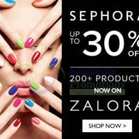 Read more about Sephora Cosmetics Up To 30% OFF SALE 6 Jun - 9 Jul 2014