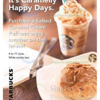 Read more about Starbucks Buy 1 Get 1 FREE Salted Caramel Cream Puff 4 - 11 Jun 2014