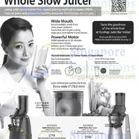 Read more about Kuvings Whole Slow Silent Juicer @ Tangs 6 Jun 2014