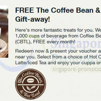 Read more about The Coffee Bean & Tea Leaf FREE Cup Giveaway For Singtel Customers 9 Jun 2014