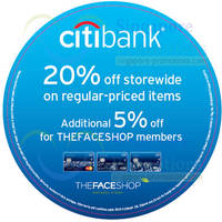 Read more about The Face Shop 20% OFF Storewide For Citibank Cardmembers 17 Jun - 31 Jul 2014