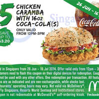 Read more about McDonald's Singapore Dine-In Discount Coupons 26 Jun - 23 Jul 2014