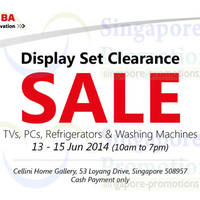 Read more about Toshiba Display Set Clearance SALE @ Cellini Home Gallery 13 - 15 Jun 2014