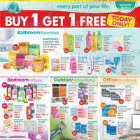 Read more about Watsons Buy 1 Get 1 FREE One Day Offers 4 Jun 2014