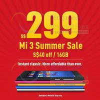 Read more about Xiaomi Mi 3 $40 OFF Summer Sale Promo 16 Jun 2014