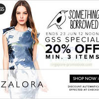 Read more about Zalora 20% OFF Something Borrowed Coupon Code (NO Min Spend) 19 - 23 Jun 2014