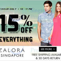 Read more about Zalora 15% OFF Storewide 1hr Flash Sale (10pm - 11pm) 25 Jun 2014