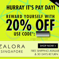 Read more about Zalora 20% OFF Storewide (NO Min Spend) Coupon Code 27 - 30 Jun 2014