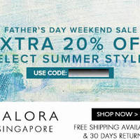 Read more about Zalora 20% OFF Father's Day Weekend Coupon Code (NO Min Spend) 13 - 16 Jun 2014