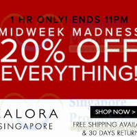 Read more about Zalora 20% OFF Storewide 1hr Flash Sale (10pm - 11pm) 11 Jun 2014