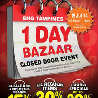 Read more about BHG Tampines 30% OFF Storewide 1 Day Bazaar 19 Jul 2014