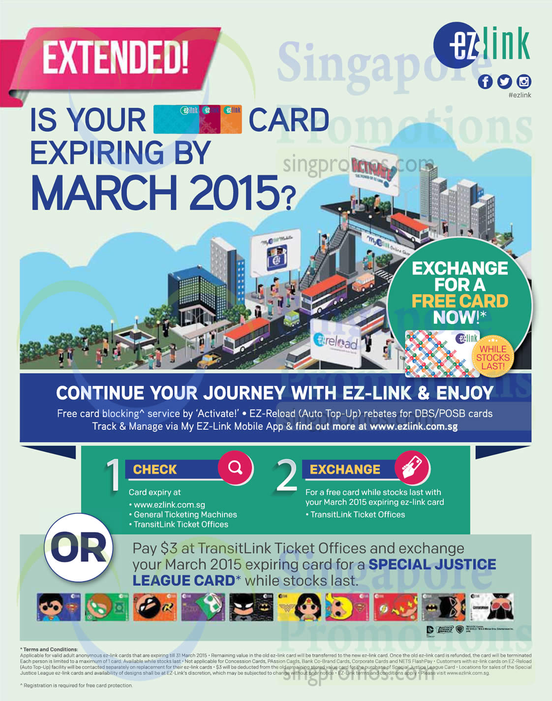 11 Dec Justice League Ezlink Cards Exchange (3 Dollars Applicable)