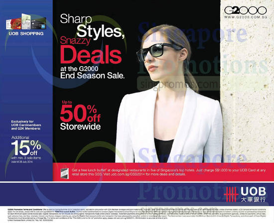 11 Jul UOB Cardholder Additional Offer