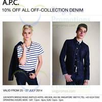 Read more about A.P.C 10% OFF Denim 25 - 27 Jul 2014