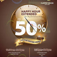 Read more about AOne Claypot House 50% OFF Entire Menu Happy Hour Weekdays Promo 14 Jul 2014