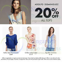Read more about Adolfo Dominguez 20% OFF All Tops Promo 25 - 28 Jul 2014
