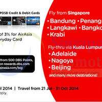 Read more about Air Asia Promo Air Fares For DBS/POSB Cardmembers 14 - 29 Jul 2014