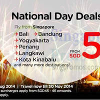 Read more about Air Asia From $5 National Day Promo Air Fares 30 Jul - 3 Aug 2014