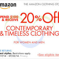 Read more about Amazon.com 20% OFF Coupon Code For Contemporary & Timeless Clothing 15 - 25 Jul 2014