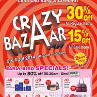 Read more about BHG 30% OFF Storewide @ CCK & Clementi 5 - 6 Jul 2014