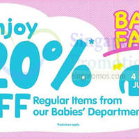 Read more about BHG 20% OFF Baby Fair 4 - 13 Jul 2014