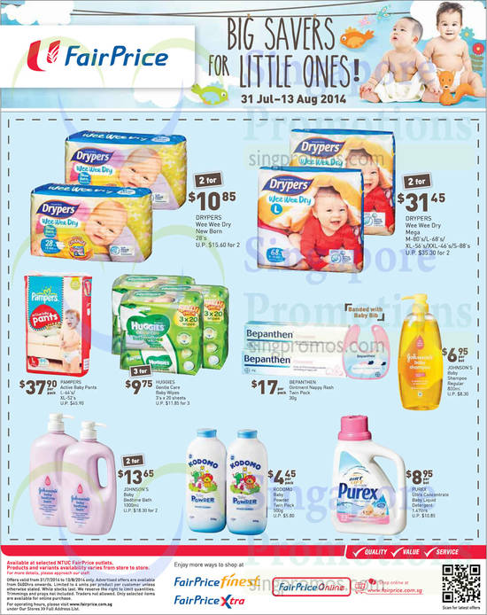 Drypers Wee Wee Dry New Born, Drypers Wee Wee Dry Mega, Pampers Active Baby Pants, Huggies Gentle Care Baby Wipes, Bepanthen Ointment Nappy Rash, Johnson's Baby Shampoo Regular, Johnson's Baby Bedtime Bath, Kodomo Baby Powder Twin Pack, Purex Ultra Concentrate Baby Liquid Detergent