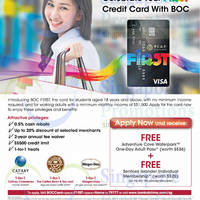 Read more about Bank of China NEW F1rst Credit Card For Students & Working Adults 22 Jul 2014