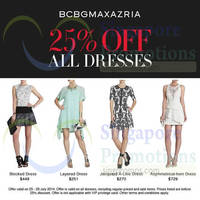 Read more about Bcbgmaxazria 25% OFF All Dresses Storewide Promo 25 - 28 Jul 2014