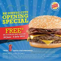 Read more about Burger King Buy Large Coke & Get FREE Burger @ Suntec City 30 Jun - 6 Jul 2014