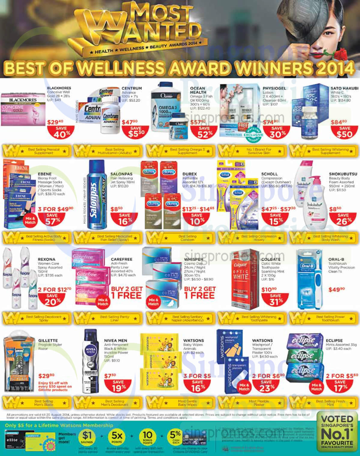 Centrum Advance, Ocean Health Omega 3 Fish Oil, Physiogel Lotion, Sato Hakubi White C, Oral-B Toothbrush Vitality Precision Clean