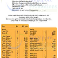Read more about Camera Rental Centre Spring Cleaning SALE 2 Jul 2014