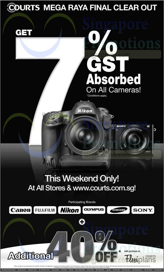 Cameras 7 Percent GST Absorbed