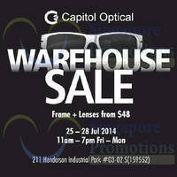 Read more about Capitol Optical Warehouse SALE 25 - 28 Jul 2014