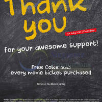 Read more about Cathay Cineplexes Buy Movie Ticket & Get FREE Coke 24 Jul 2014