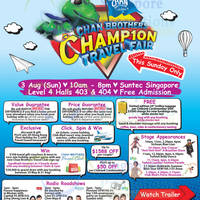 Read more about Chan Brothers Champion Travel Fair @ Suntec Convention Centre 3 Aug 2014