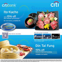 Read more about Din Tai Fung & Ito-Kacho 15% OFF For Citibank Cardmembers 13 Jul 2014