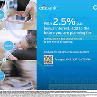 Read more about Citibank Up To 2.5% p.a. Interest With InterestPlus Savings Account 6 Jul 2014
