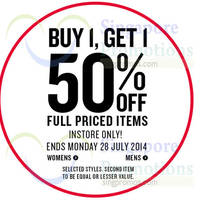 Read more about Cotton On 50% OFF 2nd Piece Promo 25 - 28 Jul 2014