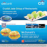 Read more about Crystal Jade Group FREE Complimentary Dish For Citibank Cardmembers 6 - 31 Jul 2014