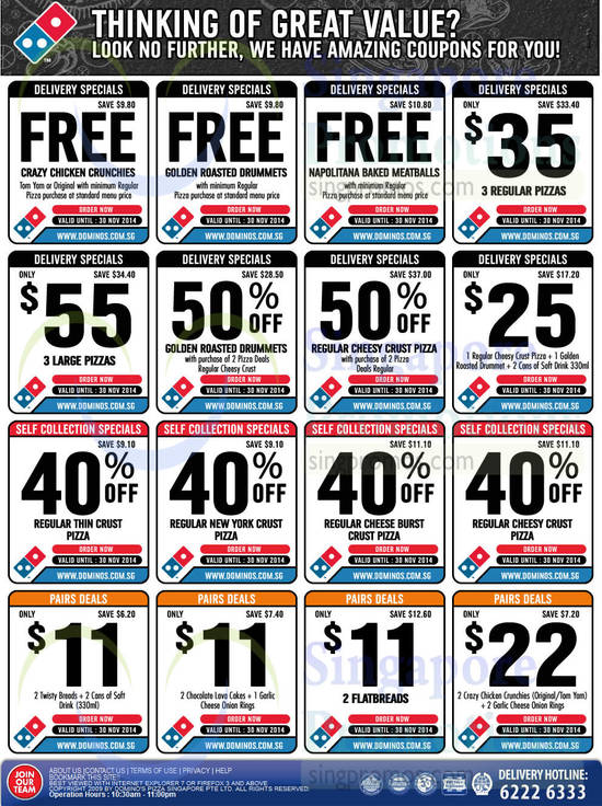 And whether you call it a coupon code or a voucher code, there are always dozens of specials and deals to choose from. How to redeem Dominos pizza coupons: Here's an easy shopping tip: click on