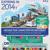 Read more about EZ-Link FREE Exchange For NEW 'Colour Your Journey' Card @ Islandwide 4 Jul 2014